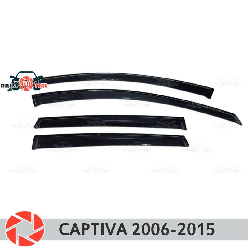 Fenster deflektor für Chevrolet Captiva 2006-2015 regen deflektor schmutz schutz auto styling dekoration zubehör molding