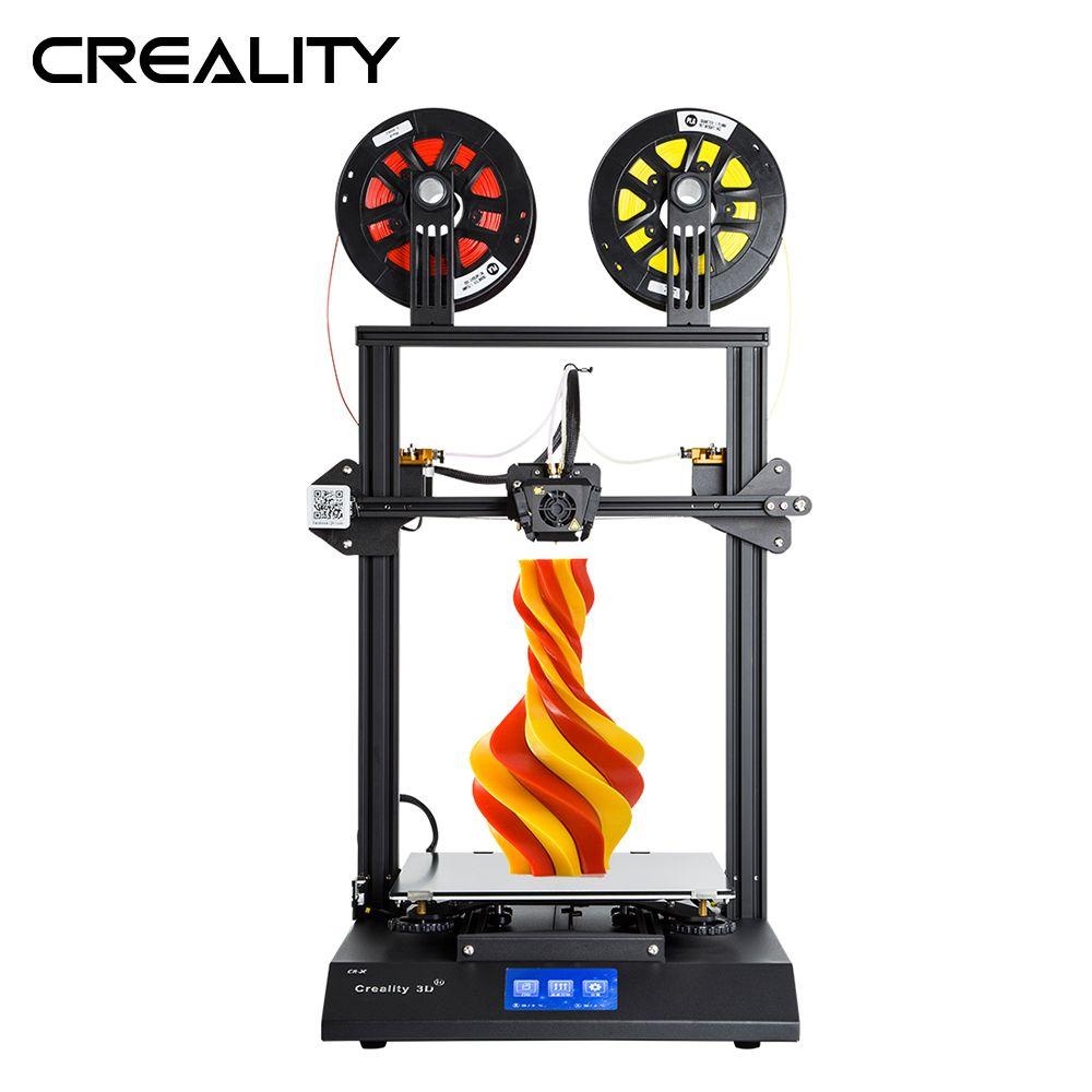 Creality 3D CR-X Dual Farbe Optional 4,3-zoll Touch Screen 3D Drucker Zwei Lüfter Mit 2KG Freies PLA Filament