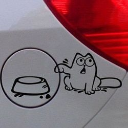 16*10CM Funny Tank Simon Cat Funny Car Stickers Stylish Car Styling Cover Scratches Decoration Accessories
