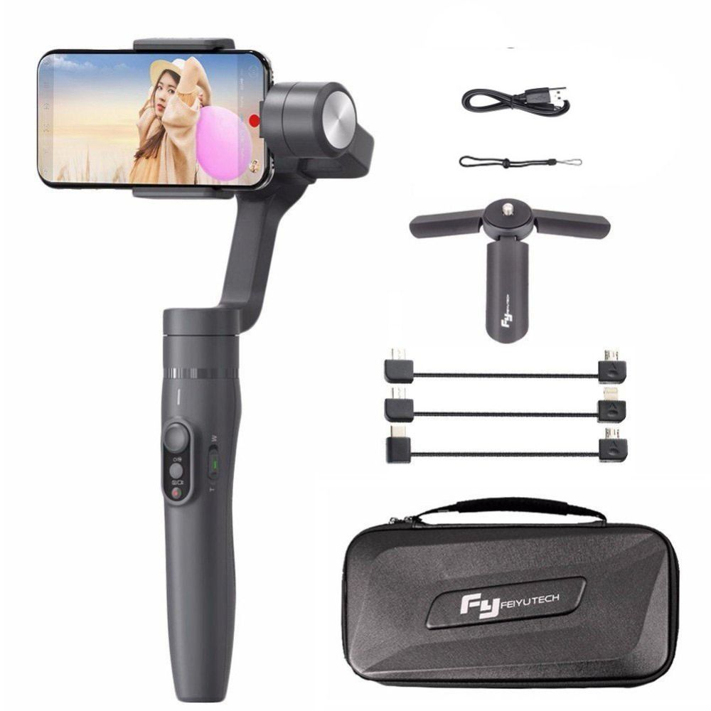 Feiyu Vimble 2 Selfie Stick Travel Gimbal Handheld Stabilizer for iPhone X 8 Plus 7 6 Samsung S9+ S9 S8+ S8 vs Zhiyun Smooth Q