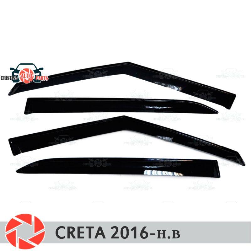 Fenster deflektoren für Hyundai Creta 2016-regen deflektor schmutz schutz auto styling dekoration zubehör molding