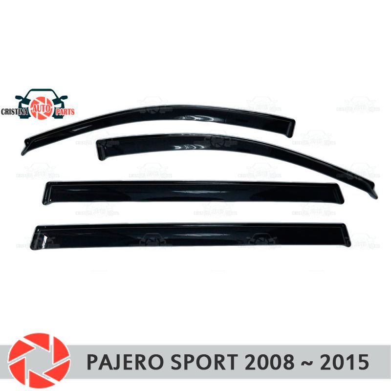 Fenster deflektor für Mitsubishi Pajero Sport 2008-2015 regen deflektor schmutz schutz auto styling dekoration zubehör molding