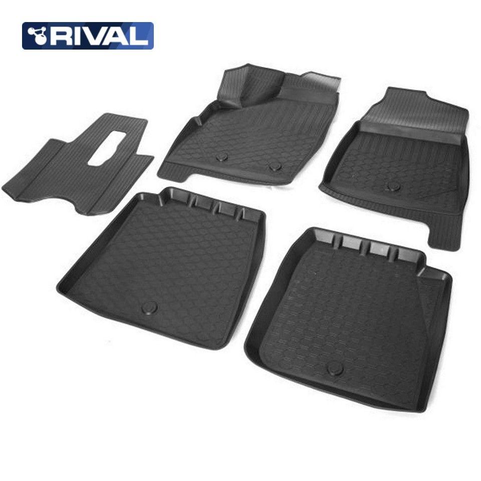 Für Lada Niva 4x4 5-türen 2131 3D boden matten in saloon 5 teile/satz Rivalen 16005003