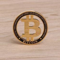 2018 nueva moneda conmemorativa oro plateado Hollow diseño Bitcoin BTC para recuerdo arte colección de monedas de la moneda