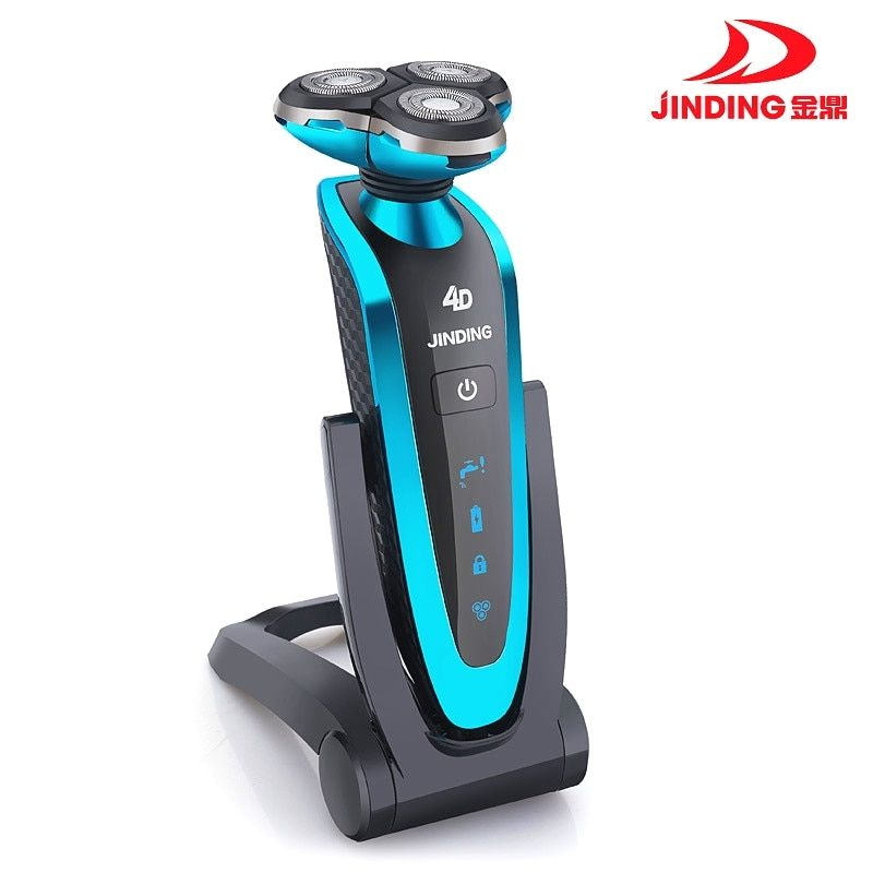 Jinding Triple blade Shaver Rechargeable Electric Shaver waterproof 4D shaving machine beard Electric Razor For Men wireless use