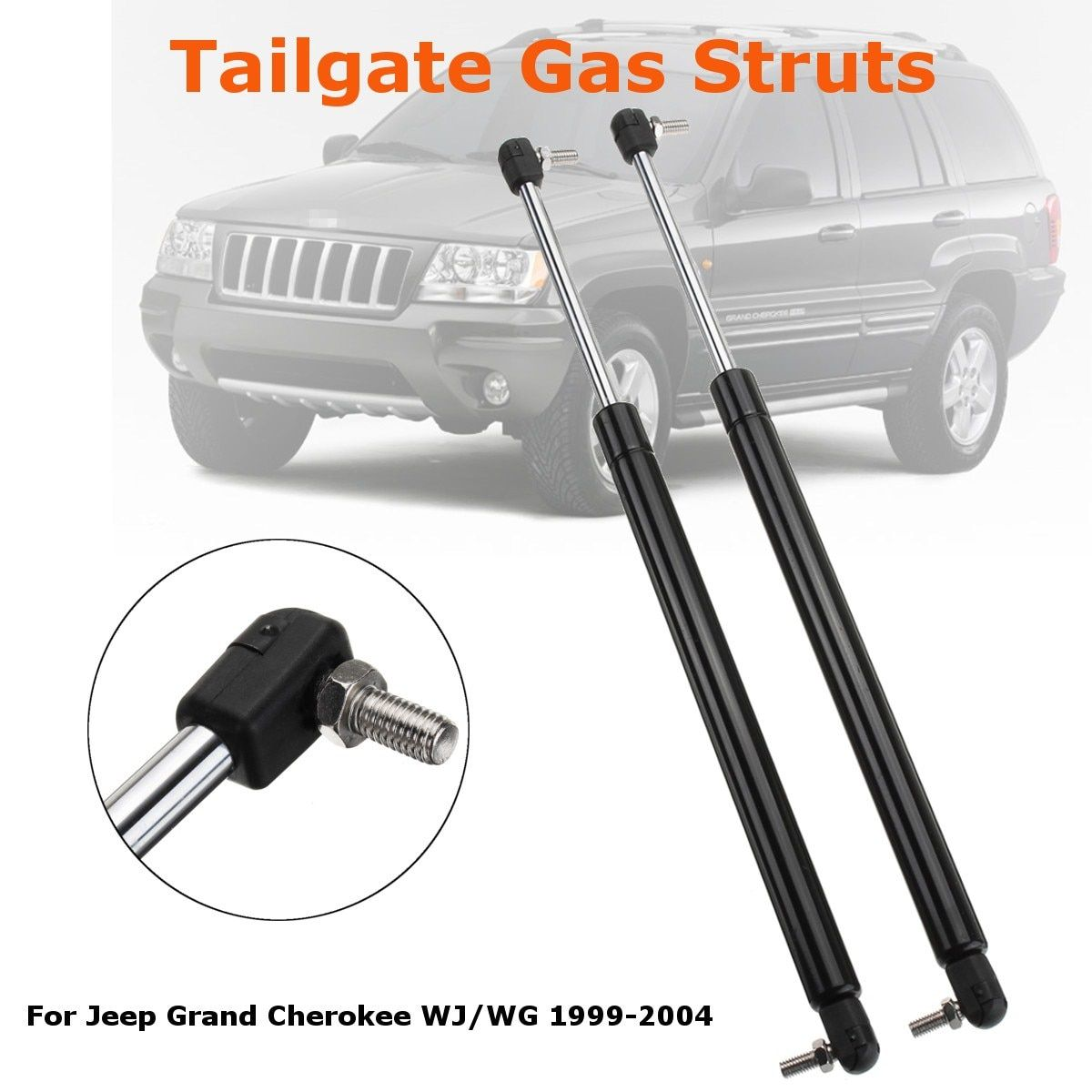 2PC Rear Tailgate Boot Gas Support Struts For Jeep Grand Cherokee WJ/WG 1999-2004 55137022AB