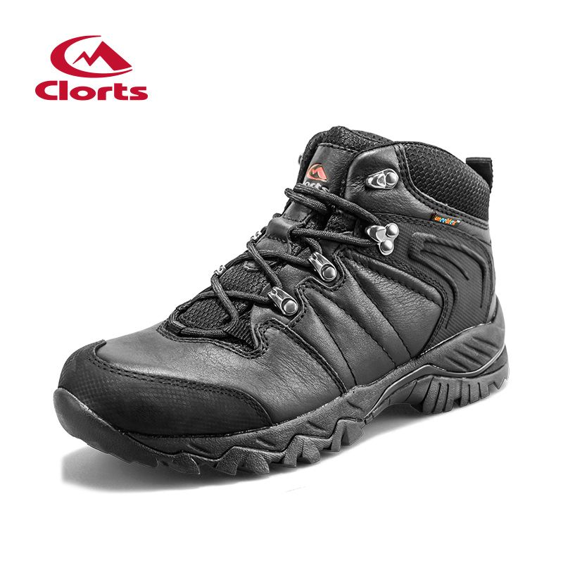 Clorts Lovers Genuine Leather Hiking Boots Waterproof Uneebtex Hiking Shoes Men Women Anti-slippery Outdoor Sneakers HKM-822