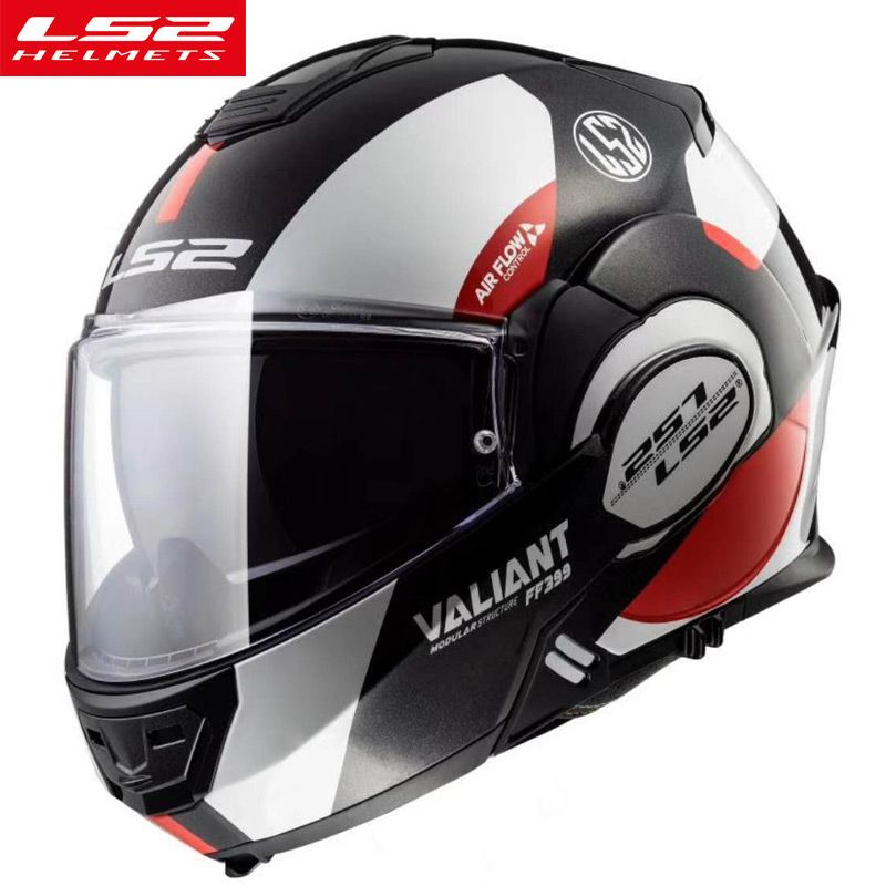 New LS2 FF399 flip up motorcycle helmet modular multi-function dual shield high quality moto helmet LS2 factory authority helmet
