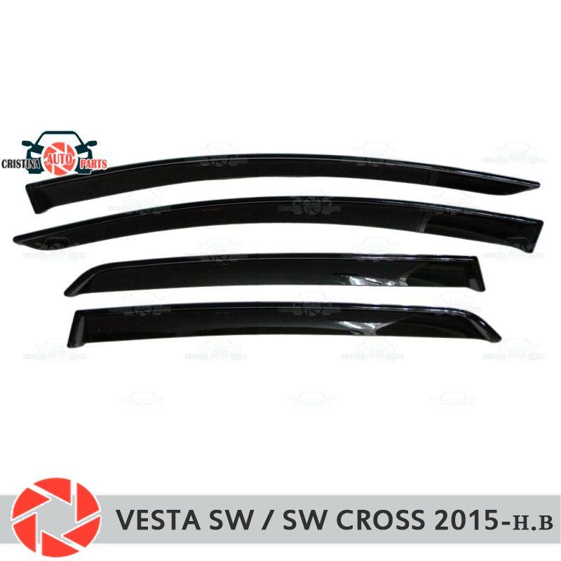 Fenster deflektor für Lada Vesta SW/SW Kreuz 2015-regen deflektor schmutz schutz auto styling dekoration zubehör molding