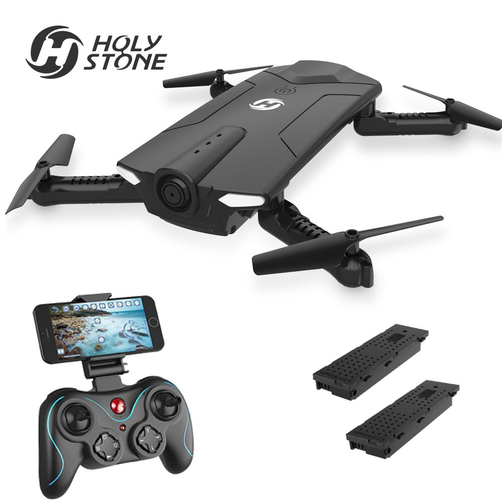 [EU USA JP Stock]Holy Stone HS160 Selfie 720P WIFI FPV Foldable Altitude Hold 36 Minutes RC Quadcopter RTF VS JJRC H37 EU No Tax