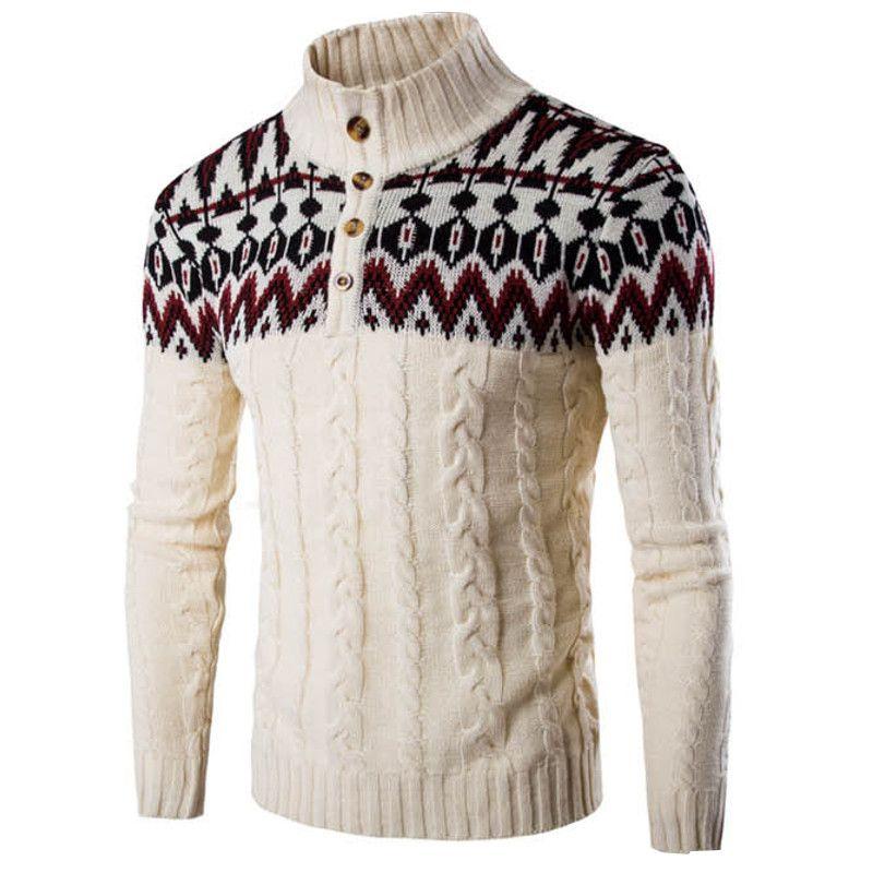 Осень-зима Винтаж Вязание Свитеры для женщин Пуловеры для женщин Повседневное Для мужчин свитер пальто с длинным рукавом Для мужчин Printed ...