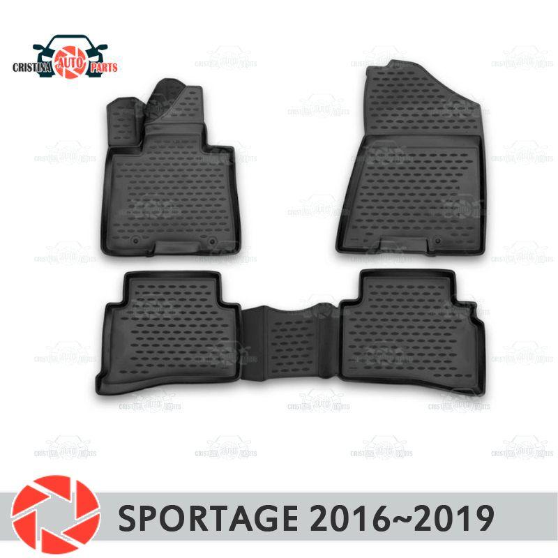 Boden matten für Kia Sportage 2016 ~ 2019 teppiche non slip polyurethan schmutz schutz innen auto styling zubehör