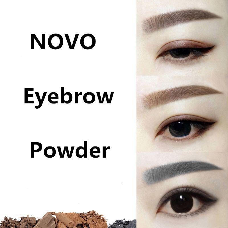 Maquillaje de ojos de la Ceja En Polvo fácil de Usar Maquillaje En Polvo Ceja Impermeable Negro Marrón Cejas Rápido