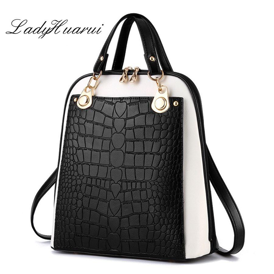 Модные Простые Стиль Для женщин Рюкзаки Высокое качество кожа Школьные ранцы сумка Марка женский рюкзак 2017 рюкзаки Молодежные Q3