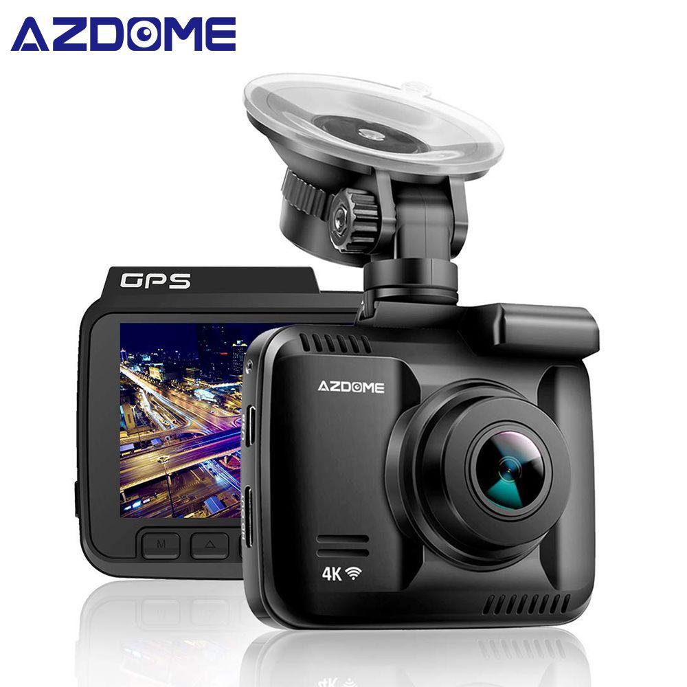 AZDOME GS63H 4 K intégré GPS WiFi voiture dvr enregistreur Dash Cam double lentille véhicule vue arrière caméra caméscope Vision nocturne Dashcam