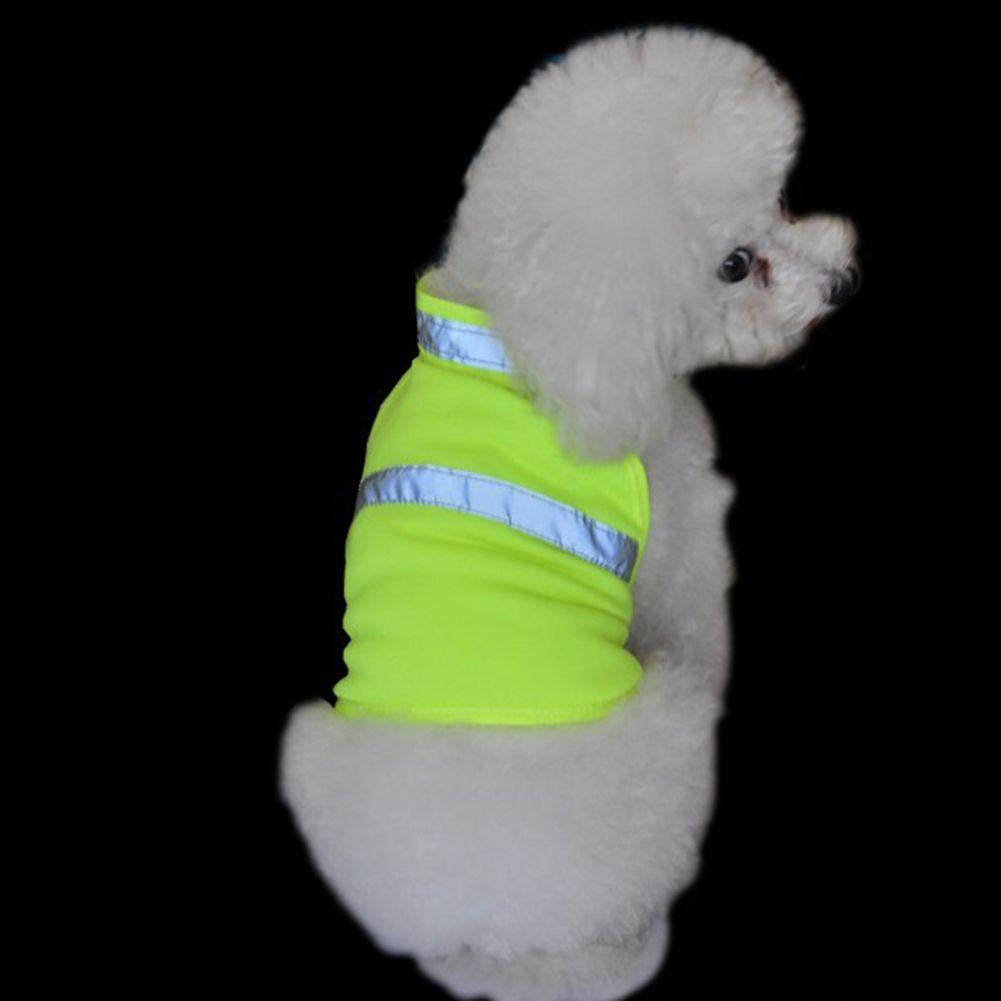 TINGHAO Ajustable collar Para Perro de Caza Chaqueta de Alta Visibilidad de Seguridad Chaleco Reflectante Chaleco de Mascotas Perros Ropa de Verano