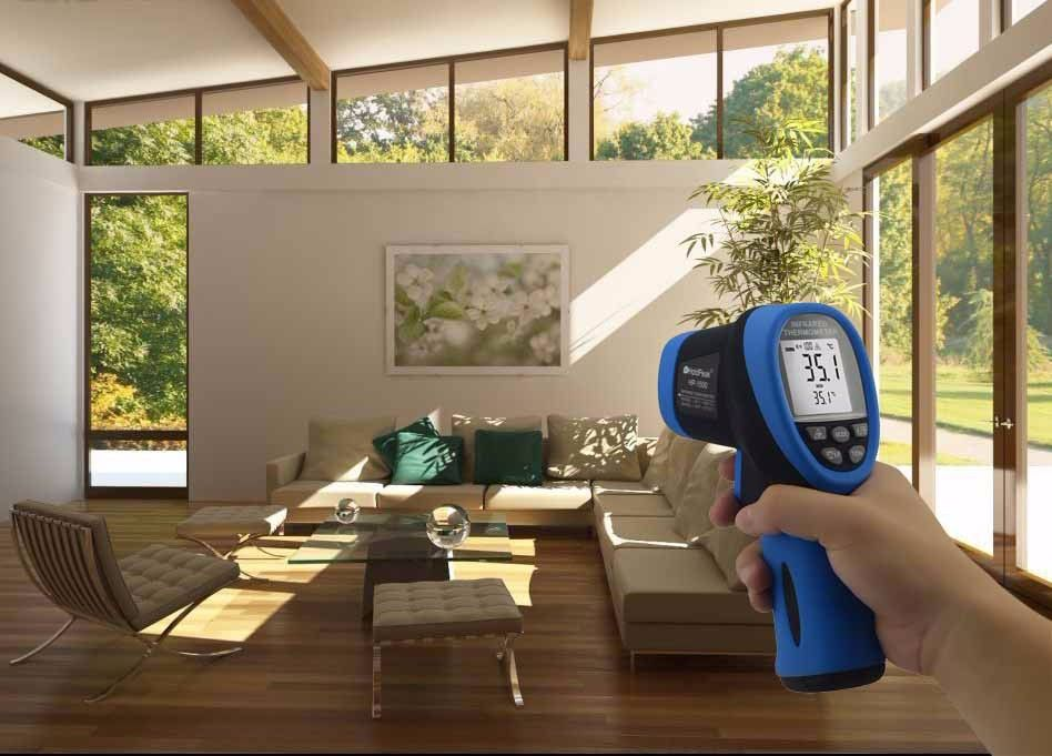 HoldPeak HP-1500 Digital Infrared Thermometer -50~1500 Non Contact laser Thermometer Temperature Meter LCD Display Thermometer