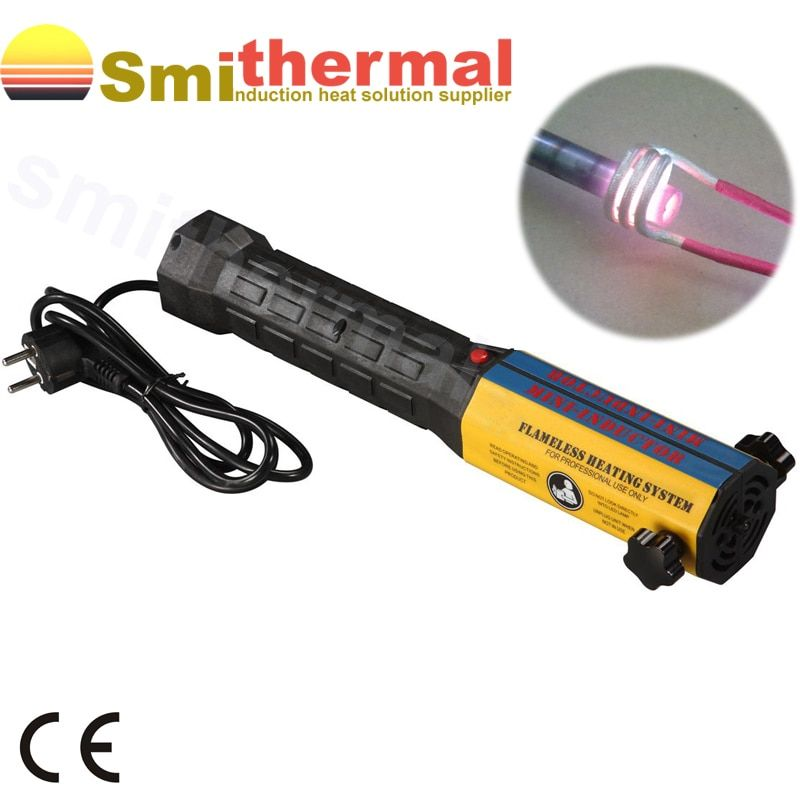 Car Garage Repairing 220V 1000W Handheld High Frequency Flameless With Coil Kits Mini Induction Heater
