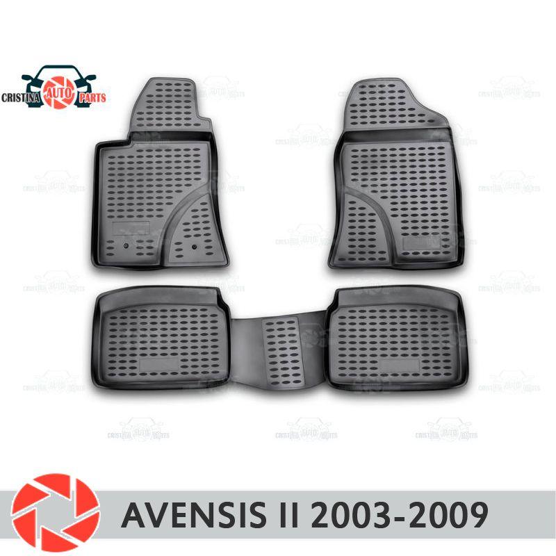Boden matten für Toyota Avensis 2003-2009 teppiche non slip polyurethan schmutz schutz innen auto styling zubehör