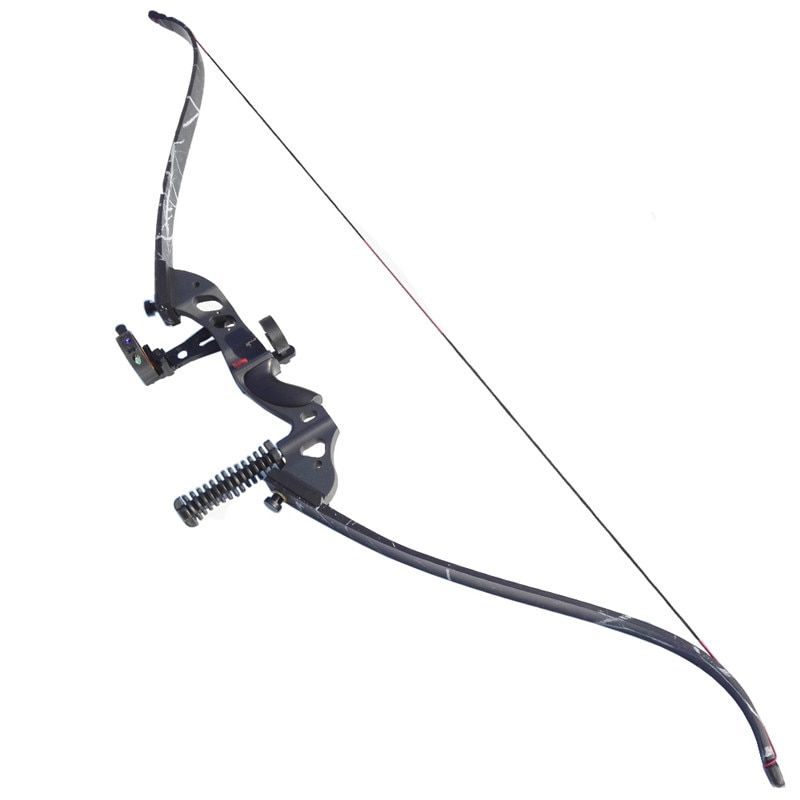 60 inch Archery Recurve Bow Composite Materials Draw Weight 35-45lbs Archery Bow Set Arrow Rest Bow Sight And Stabilizer Hunting
