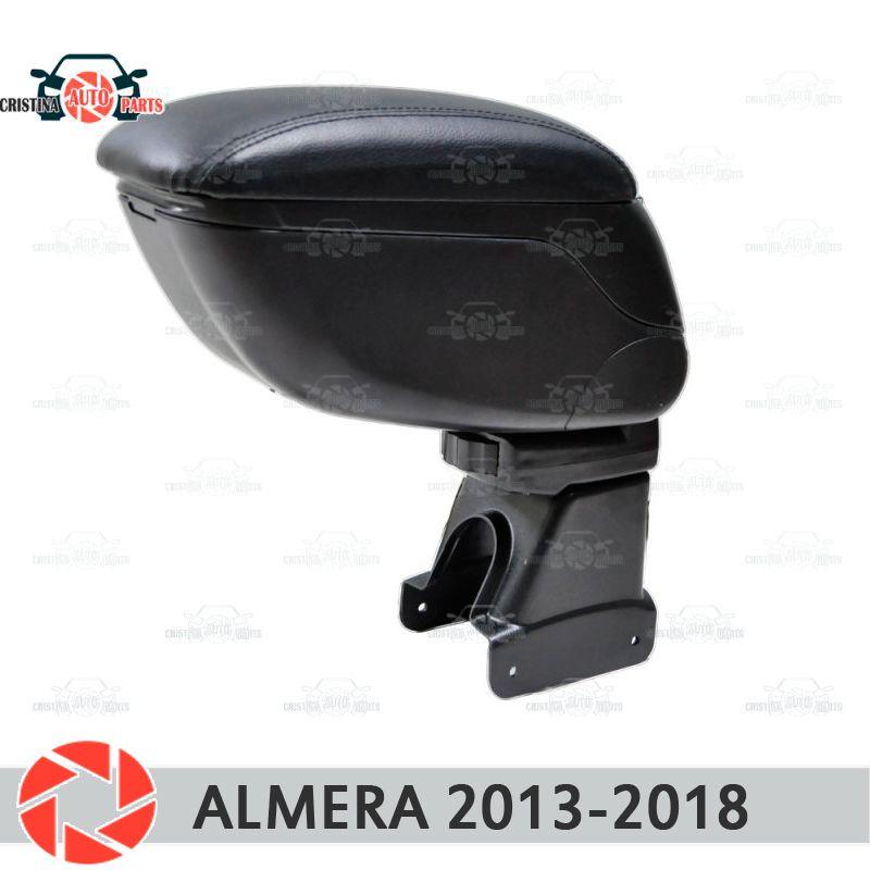 Für Nissan Almera 2013-2018 auto armlehne zentrale konsole leder lagerung box aschenbecher zubehör auto styling