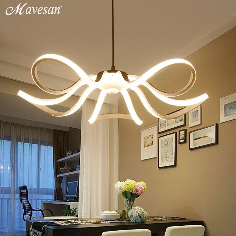 Modern flower LED pendant lights Kitchen Acrylic+Metal suspension hanging ceiling lamp for dinning room lamparas colgantes