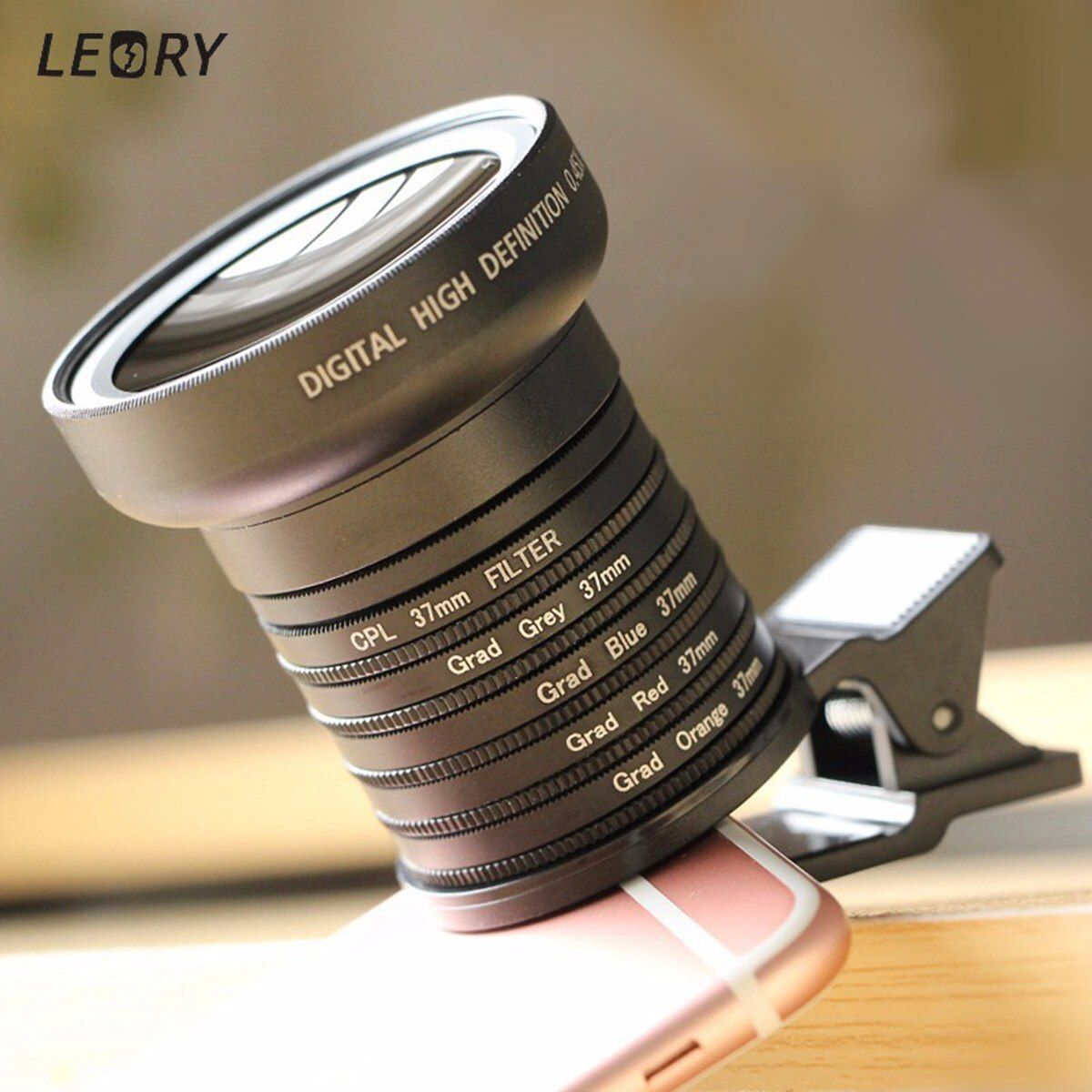 LEORY Universal 11 in 1 Wide Angle Macro Lens Gradient Filter Lens For Smart Phone HD Phone Camera Lens Mobile Phone Accessories