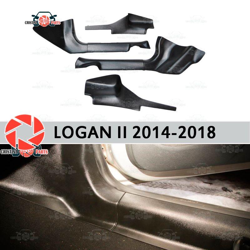 Tür sill trim teppich für Renault Logan 2014-innere sill schritt platte trim schutz teppich zubehör auto styling dekoration