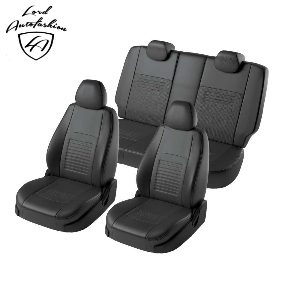 Für Kia Rio limousine 2017-2019/Kia Rio X-Linie 2017-2019 spezielle sitzbezüge voll set (Eco-leder, modell Turin)