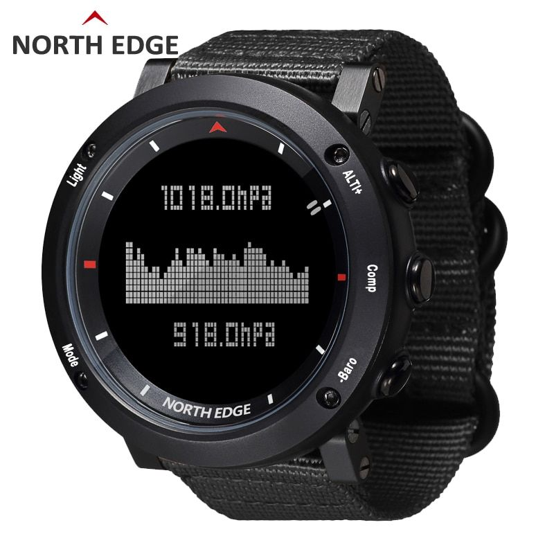 NORTH EDGE Men sport electronic watch military Army Hours Running Swimming sports watches Altimeter Barometer Compass waterproof