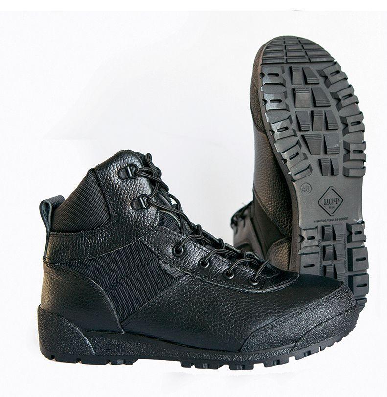 Echtes leder lace-up schwarz armee stiefeletten männer hohe schuhe flache military stiefel 0060/2 WA
