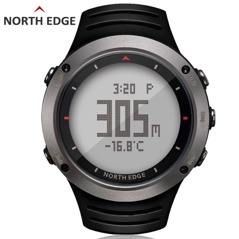 NORTH EDGE montre numérique sport homme heures de course natation sport montres altimètre baromètre boussole thermomètre météo hommes