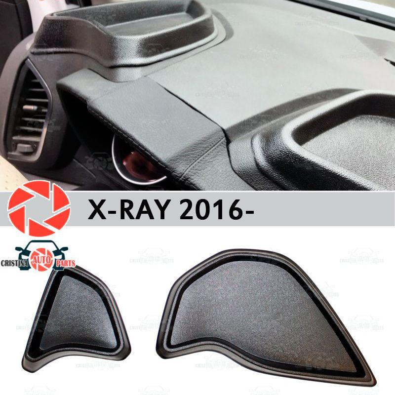 Veranstalter auf front panel konsole für Lada X-Ray 2016-kunststoff ABS geprägte tasche auto styling zubehör dekoration lagerung