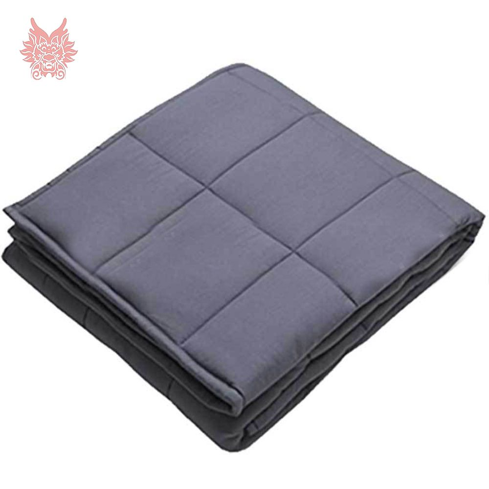 Off white grey plaid weighted blanket for Anxiety, ADHD, Autism, Insomnia or Stress - Premium Various people great sleep SP5412