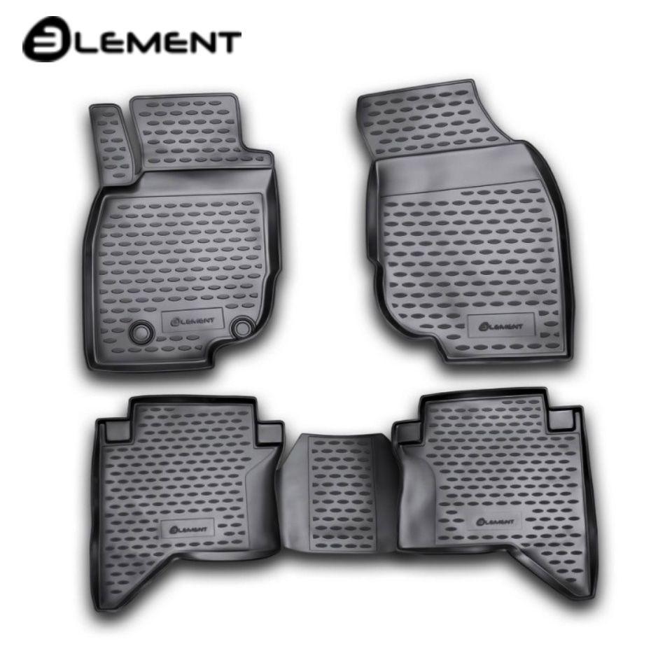Für Toyota Hilux 2011-2015 boden matten in saloon 4 teile/satz Element NLC4852210K