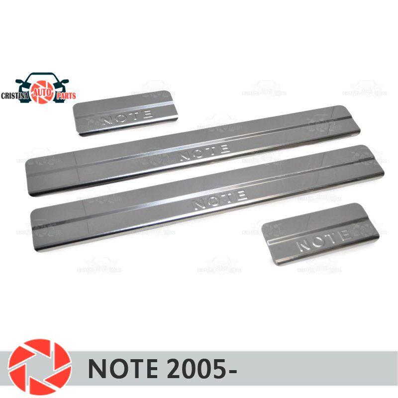 Einstiegsleisten für Nissan Note 2005-schritt platte inneren trim zubehör schutz scuff auto styling dekoration