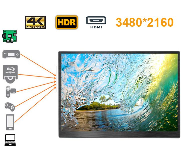 18,4 zoll 4 K 3480*2160 bildschirm LCD monitor iDeal für Xbox, PS station, schalter, raspberry pi, windows mini pc, projektor, dvd etc
