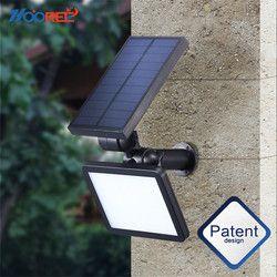Nueva Luz Solar 48 LED portátil lámpara de energía Solar impermeable inicio patio iluminación al aire libre Led luz Solar del jardín camino pared lámpara
