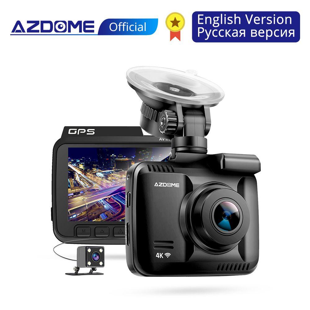 AZDOME GS63H 4K intégré GPS WiFi voiture dvr enregistreur Dash Cam double lentille véhicule vue arrière caméra caméscope Vision nocturne Dashcam