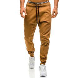Hommes Joggers 2018 New Casual Pantalon Hommes Marque Vêtements Haute qualité Printemps Longue Kaki Pantalon Élastique Mâle Pantalons Hommes Joggers 3XL