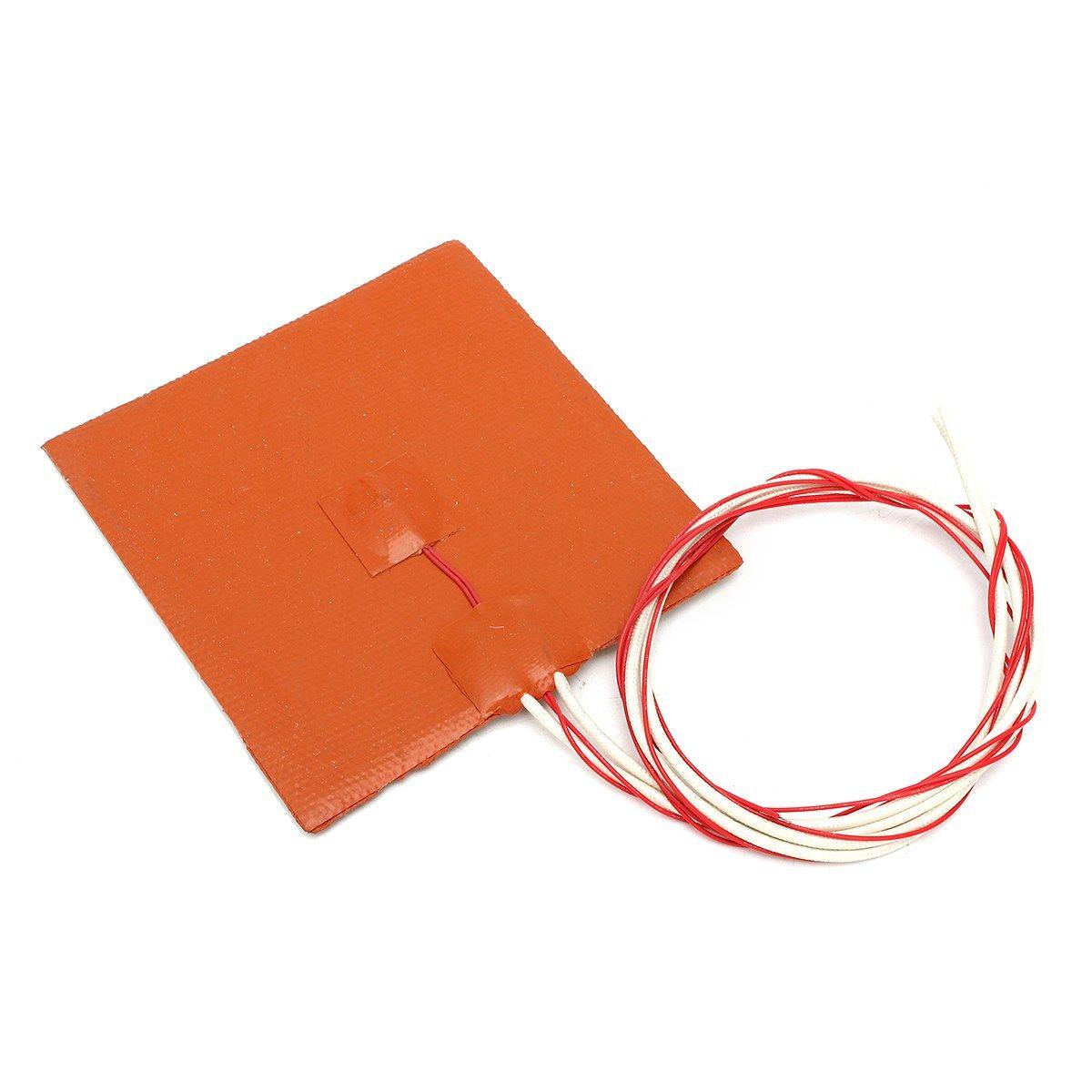 Nouveau 12x12 cm 120 W 12 V Silicone Chauffe Pad Pour 3D Imprimante Lit Chauffé Chauffage Tapis 3D imprimante Pièces & Accessoires