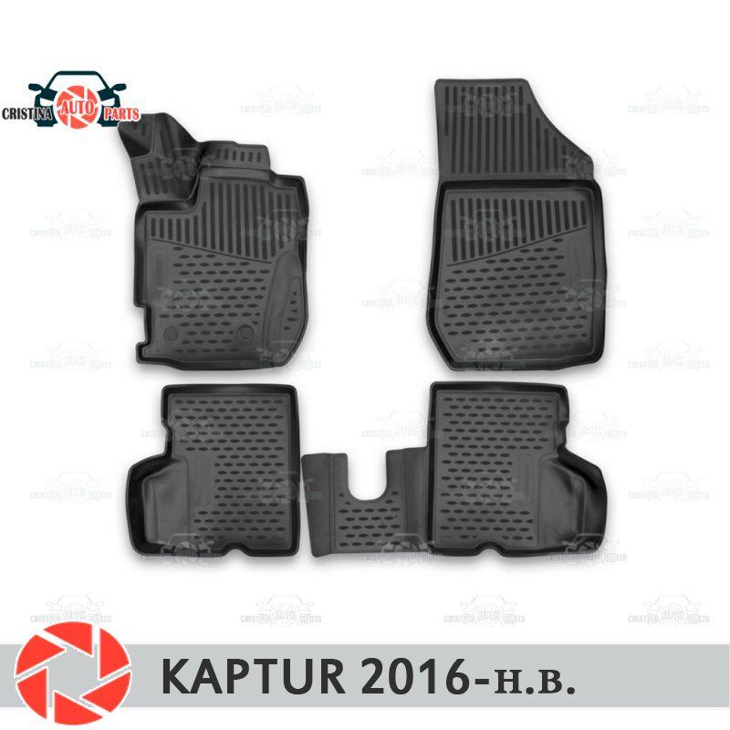 Für Renault Kaptur 2016-fußmatten teppiche non slip polyurethan schmutz schutz innen auto styling zubehör