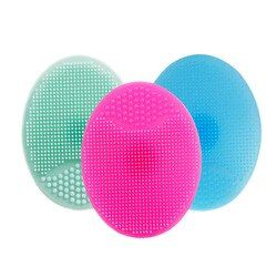 1pcs Facial Cleansing Brush Face Washing Exfoliating Blackhead Remover Soft Silicone Pad Brush Skin SPA Scrub Cleanser