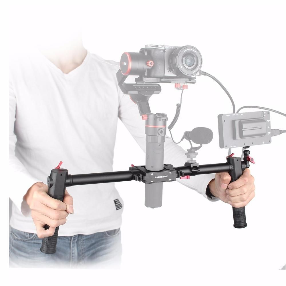 Fotopal Dual Handle Grip Handheld Kit for Gimbal Zhiyun Crane Plus Crane 2 Crane V2 Feiyu ak2000 ak4000 MOZA Air Aircross