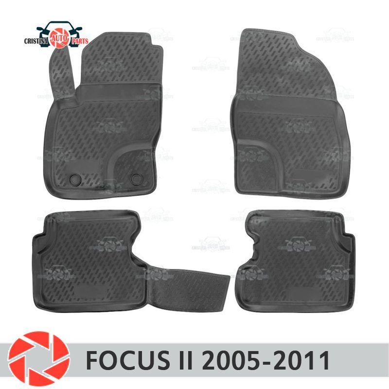 Fußmatten für Ford Focus 2 2005-2011 teppiche non slip polyurethan schmutz schutz innen auto styling zubehör