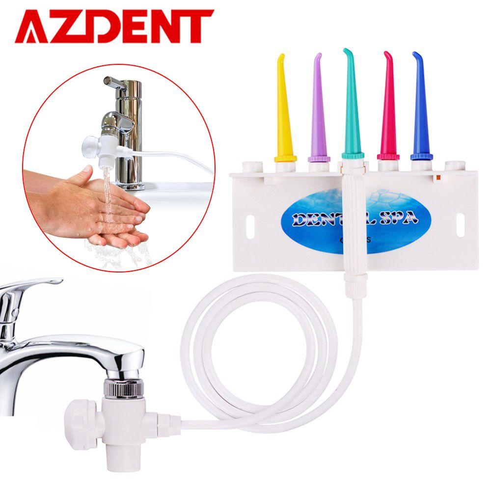 AZDENT robinet eau dentaire Flosser Oral irrigateur Jet interdentaire brosse dent SPA nettoyant dents blanchiment brosse à dents nettoyage