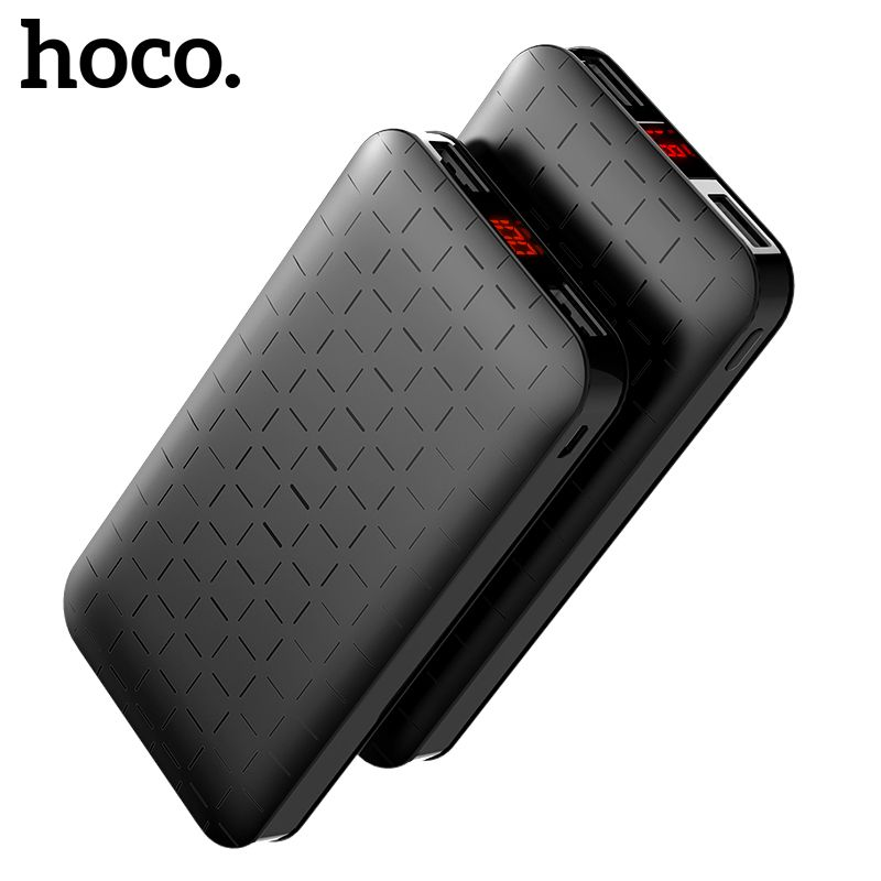 HOCO 10000 mAh Power Bank Ultra-thin Polymer Powerbank Dual USB 5000mah External Battery LED Display for iPhone X XS Max Xiaomi