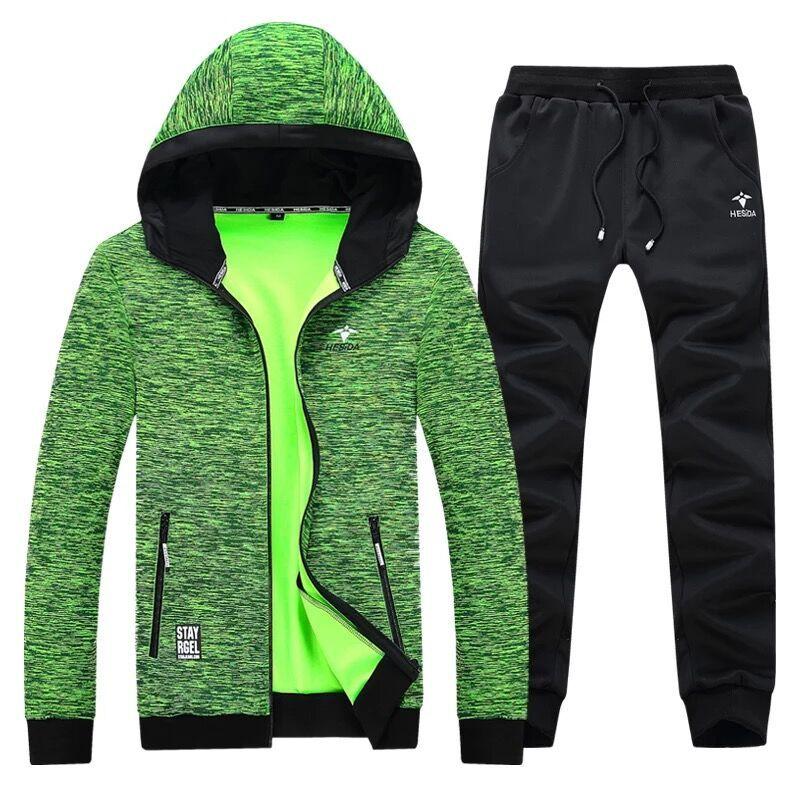 Hoodie Pants 2 Piece Men Sport Set Tracksuit Brand Zipper Hoodies Jacket Men Set Autumn Sweater Pant Sweatshirt Hood Coat Suit
