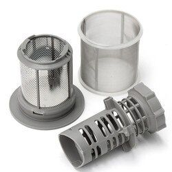 2 Partie Lave-Vaisselle Maille Filtre Set Gris PP + Acier Inoxydable Pour Bosch Lave-Vaisselle 427903 170740 Série Remplacement pour Lave-Vaisselle