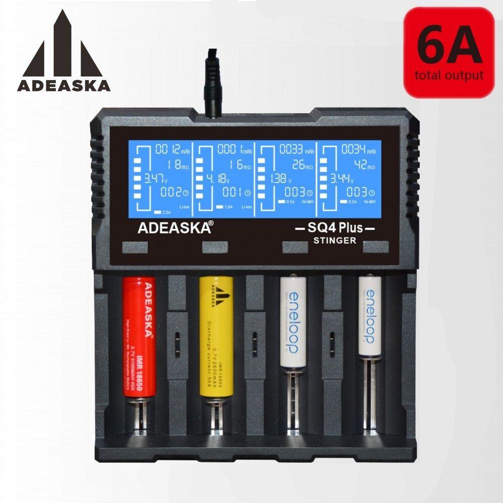 ADEASKA S Q4 PLUS LCD Display USB Rapid Intelligent Charger For Li-ion/IMR/LiFePO4/Ni-MH Battery PK VP4 PLUS